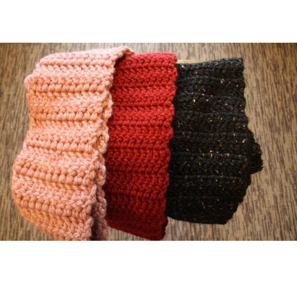 Homemade Crochet Infinity Scarves